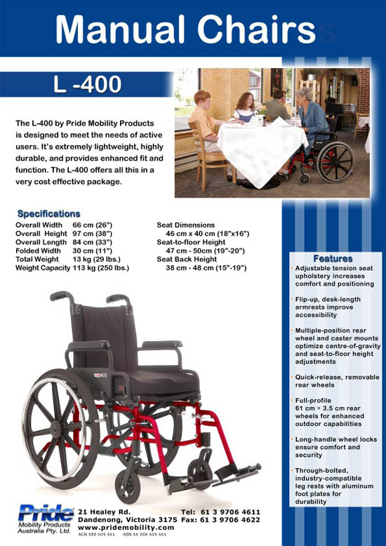 Manual wheel chairs brochure part 1